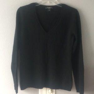 Ann Taylor-Black V Neck Cashmere Sweater- Size M